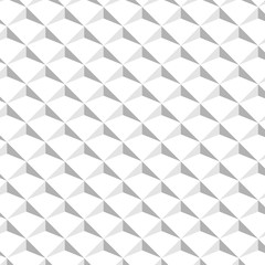 Abstract isometric background. White textured design. Vector