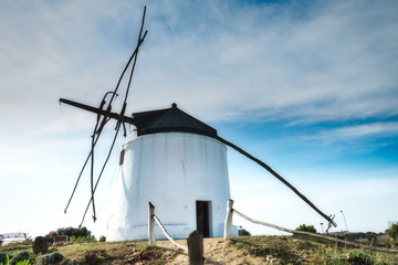 Aluminium Prints Mills Windmill in Vejer de la Frontera, a beautiful town in the province of Cadiz, in Andalusia, Spain