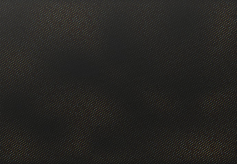 Texture halftone dots. Pattern round shape. Black and Gold Background