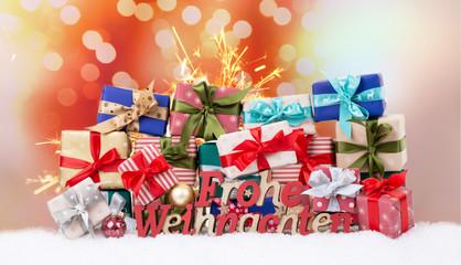 Weihnachtskarte Pakete Päckchen