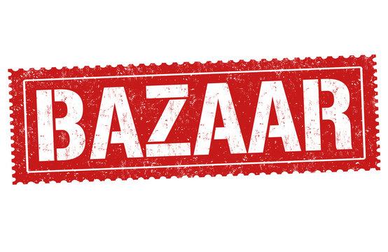 Bazaar sign or stamp