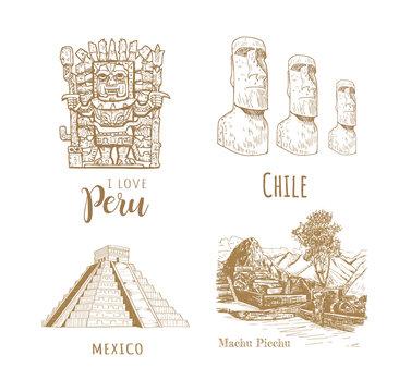 Sights of Latin America.
