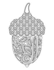 Monochrome Decorative Acorn