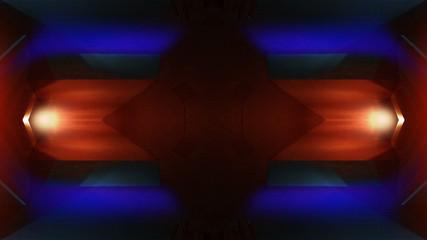 Spaceship corridor. Futuristic tunnel with light. Of Empty Sci Fi Futuristic Dark Room With Light Blue Lights