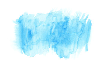 Light blue watercolour horizontal gradient background painted on the special watercolor paper. Good resolution