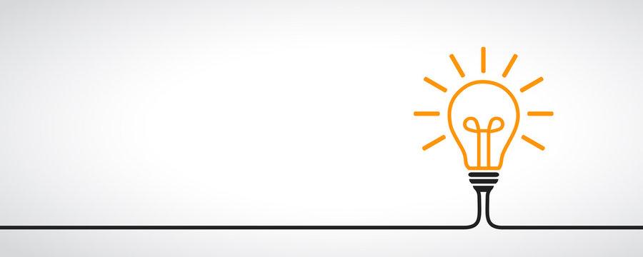 Idea, creative concept sign bulb - vector