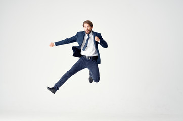 business man jumped