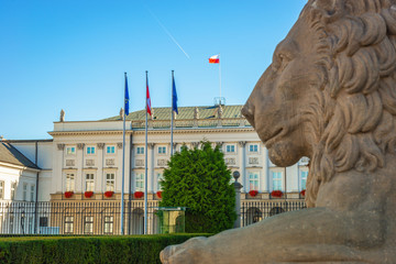 Presidential palace, City Center of Warsaw, Poland