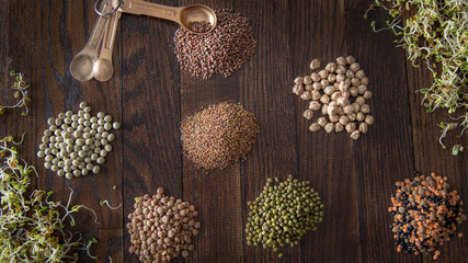 Tablespoons of Dried Seeds for Sprouting