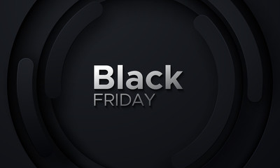 Black Friday sale poster.