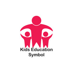 kids education symbol logo vector