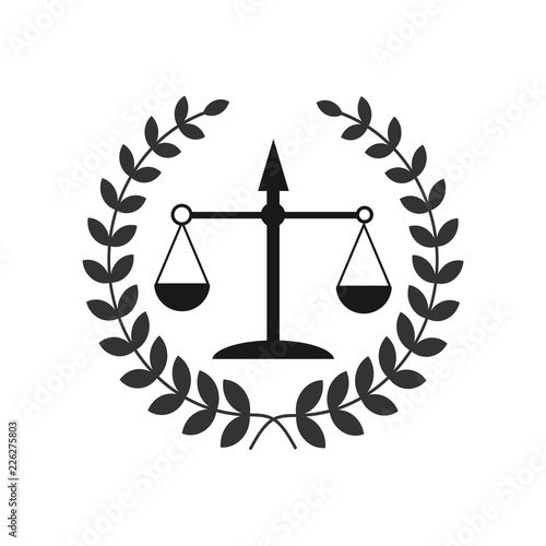 Justice scales lawyer logo, Scales of Justice sign icon