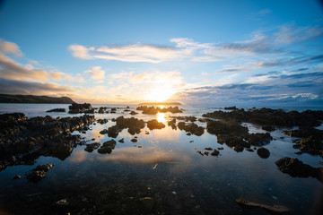 Sunset looking out at Mana Island New Zealand 3