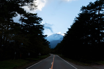 The way to Mt. Fuji