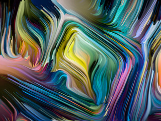 Colorful Paint in Motion