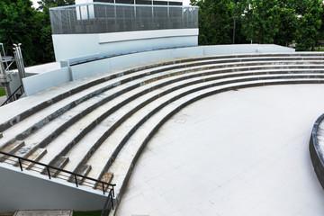 Foto op Plexiglas Stadion Public grandstand outdoor with stage background