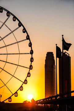 Eye of Sharjah wheel sunset