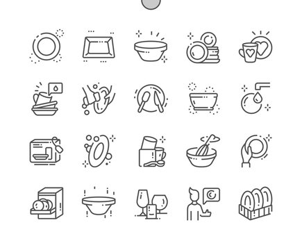 Tableware Well-crafted Pixel Perfect Vector Thin Line Icons 30 2x Grid for Web Graphics and Apps. Simple Minimal Pictogram