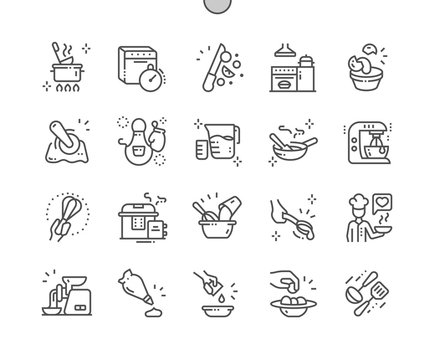 Kitchen Well-crafted Pixel Perfect Vector Thin Line Icons 30 2x Grid for Web Graphics and Apps. Simple Minimal Pictogram