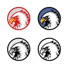 Set of Eagle Head Logo Vector Design, Sign, Icon, Template, Illustration