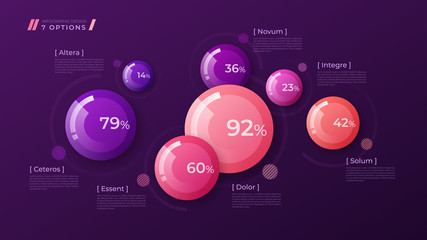 Vector colorful template for creating infographics, presentation