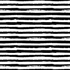 Black and white seamless pattern background with grunge paint stripes vector