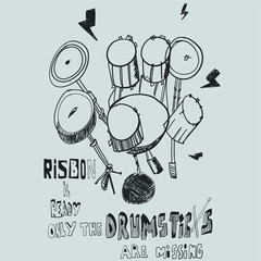 Hand drawn drums vector design for t shirt printing