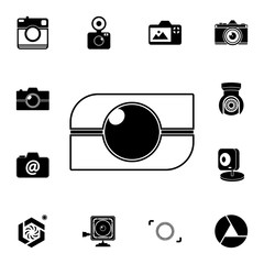lens logo icon. Detailed set of photo camera icons. Premium quality graphic design icon. One of the collection icons for websites, web design, mobile app