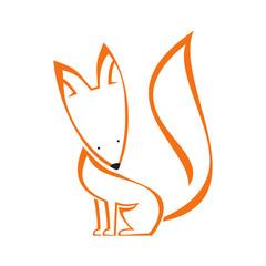 Orange vector fox