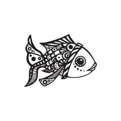 Vector black fish