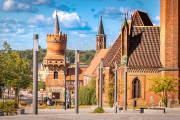 Blick vom Marktberg in Prenzlau zu, Mitteltorturm