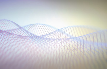 Abstract wavy lines and patterns, illustration