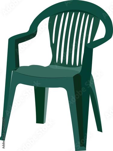 Sedie Da Giardino In Plastica Verdi.Sedia Di Plastica Verde Per Esterno E Da Giardino Stock Image And