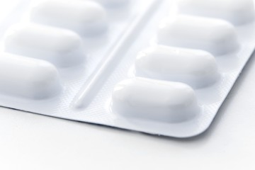 Blister pack of tablets close up