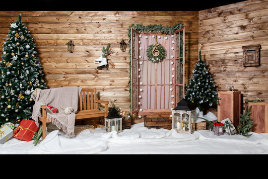 Room Christmas Tree, Xmas Home Interior Decoration, Toys, Christmas decorations