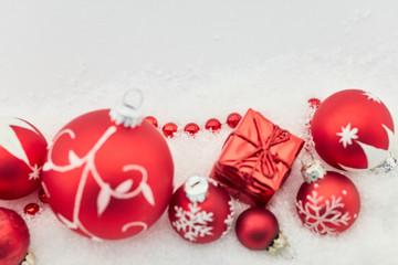 Hintergrund zu Weihnachten mit Dekoration