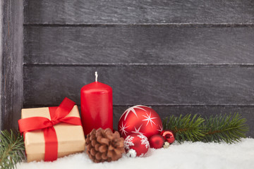 Rahmen Hintergrund zu Weihnachten mit Kerze