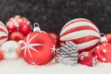 Christbaumkugel als Weihnachten Hintergrund
