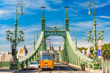 Photo sur Toile Budapest Liberty Bridge in Budapest