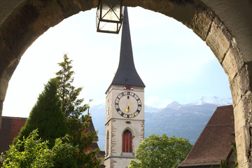 medieval old town of Chur, Switzerland