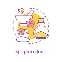 Spa procedures concept icon