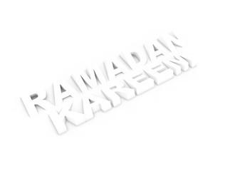 Ramadan Kareem 3D text with shadow
