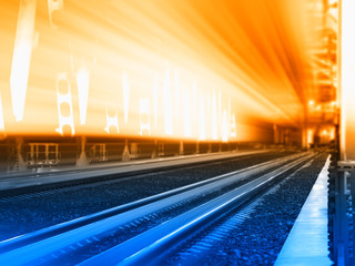 Railway track fast delivery background