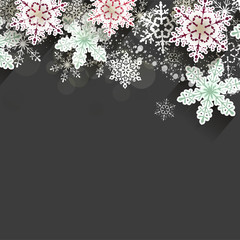 Christmas chalkboard background with snowflakes