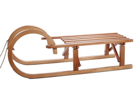 Vintage wooden sledge.