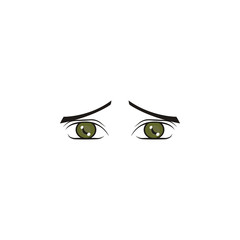Girl eyes yellow color icon. Elements of eyes multi colored icons. Premium quality graphic design icon