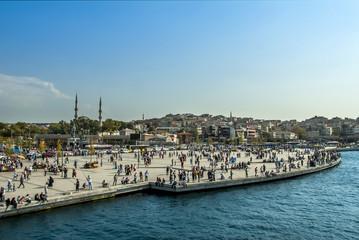 Istanbul, Turkey, 23 August 2018: Uskudar Square