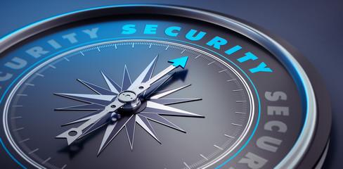 Dunkler Kompass - Konzept Security