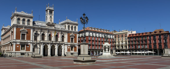 Plaza Mayor (Major Square) of Valladolid, Spain.