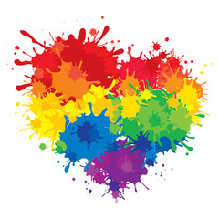 Rainbow heart / Vector illustration, LGBT movement symbol